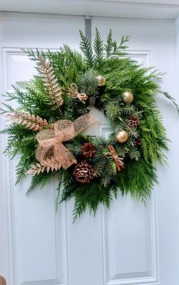 lumsden, sask, regina, wreath, evergreen, pine, fir, cedar, fresh, outdoor, pense, buena vista, regina beach, silton, strasbourg