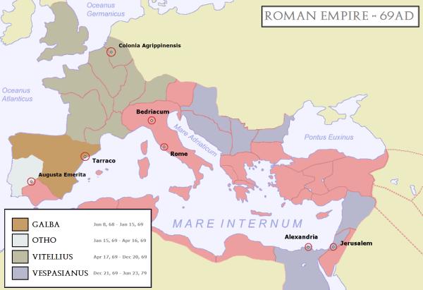 Roman empire map @ diggerzone.com