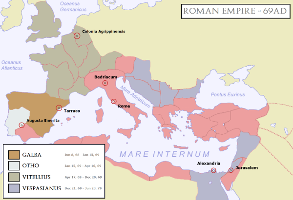 Roman empire map @ diggerzone.com