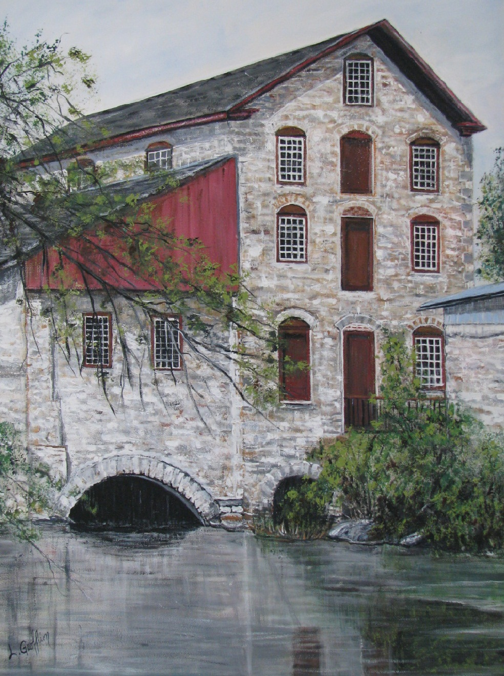 Delta Mill Print on Canvas