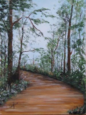 Fall Path (Watercolor) $75