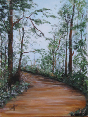 Fall Path (Watercolor) $75