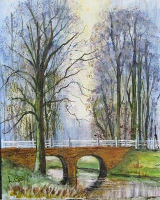 Bridge Over water {Watercolor} $100