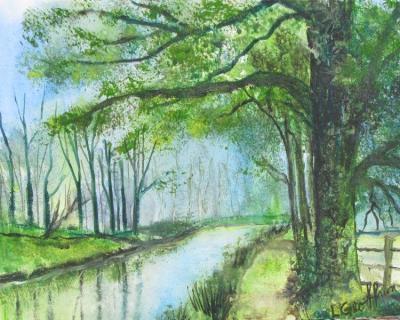 Brook & Tree {Watercolor} $100
