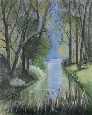 Stream & Trees {Watercolor} $100