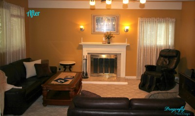 AFTER - Staging - Family Room, Mount Laurel, NJ