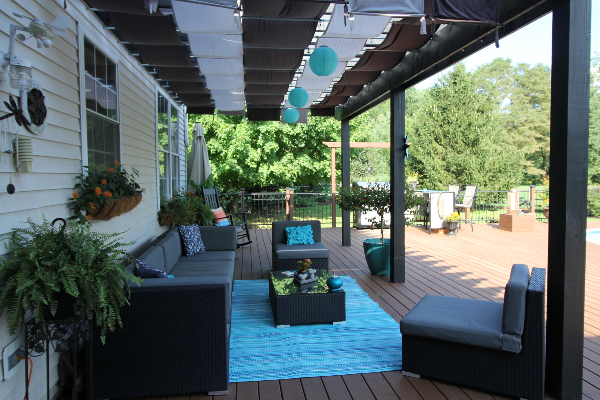 AFTER - Complete Deck & Pergola Custom Design                   + DIY Project