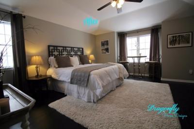 AFTER - Master Bedroom Interior Design Make-over
