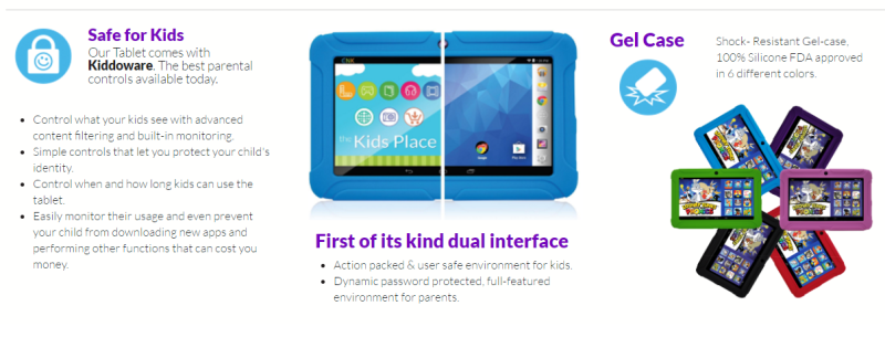 Kids Place on ClickN KIDS tablets