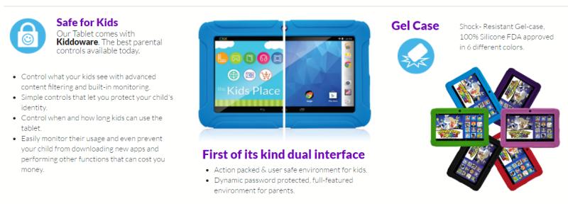 Kids Place on ClickN KIDS tablets
