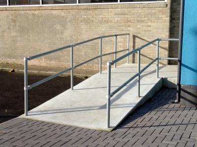 Key clamp handrail system