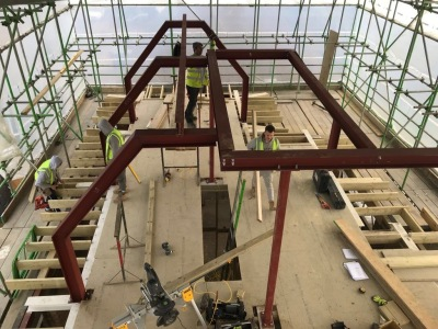 Roof crank beams