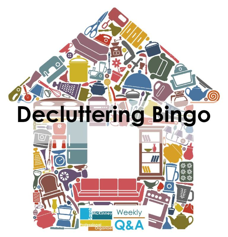 Decluttering Bingo - Games and Puzzles