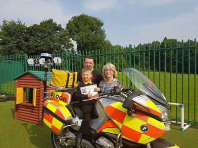 Thomas runs for Blood Bikes