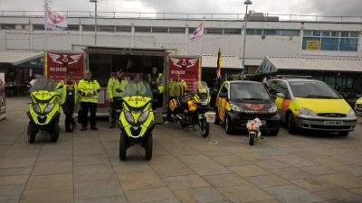 A few of the fleet set up alongside our promotions trailer.