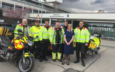 Manchester Blood Bikes club together to help bereaved parents