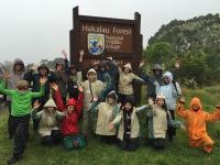 Catherine Spina with Teaching Change group at Hakalau Forest National Wildlife Refuge