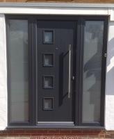 Grey Front Door Contemporary Composite Doors