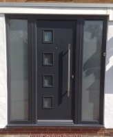 Grey Front Door Contemporary Composite Doors