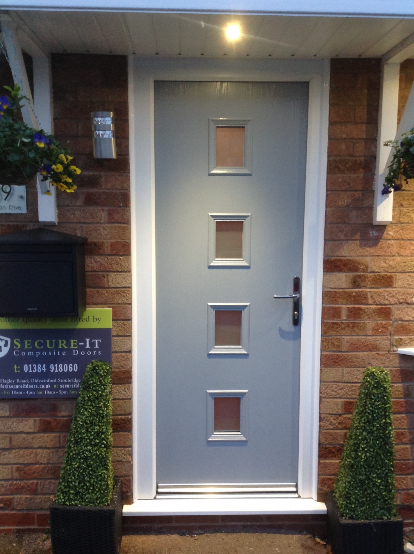 Contemporary Composite Exterior Door