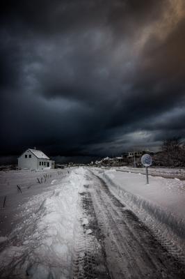 Winter storm in Reykjavik