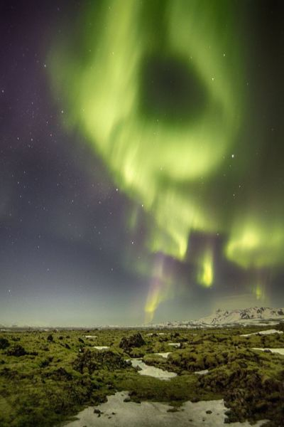 Northern lights and hellisheiði