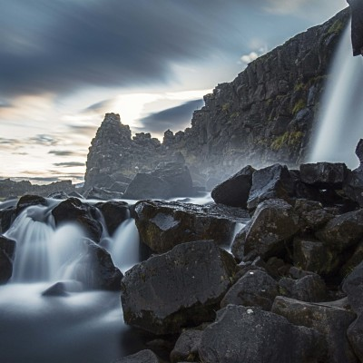 Oxararfoss long exposure