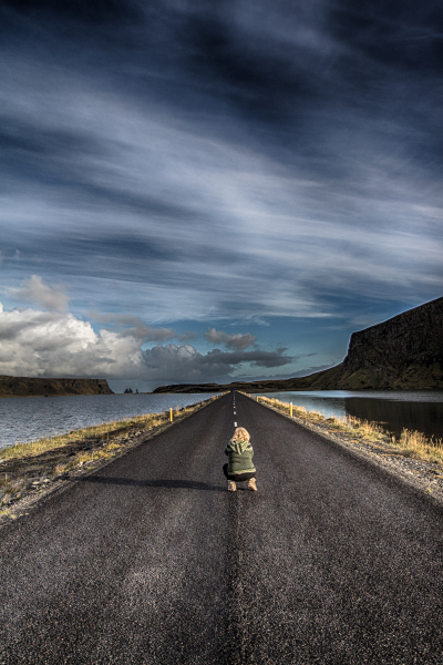 The road to Dyrhólaey