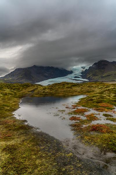Kvíárjökull glacier tounge