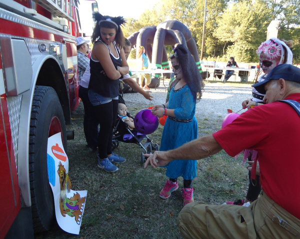 Treats at the Fire Truck