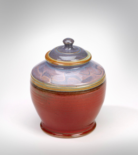 Stoneware Jar made in Troy 1985