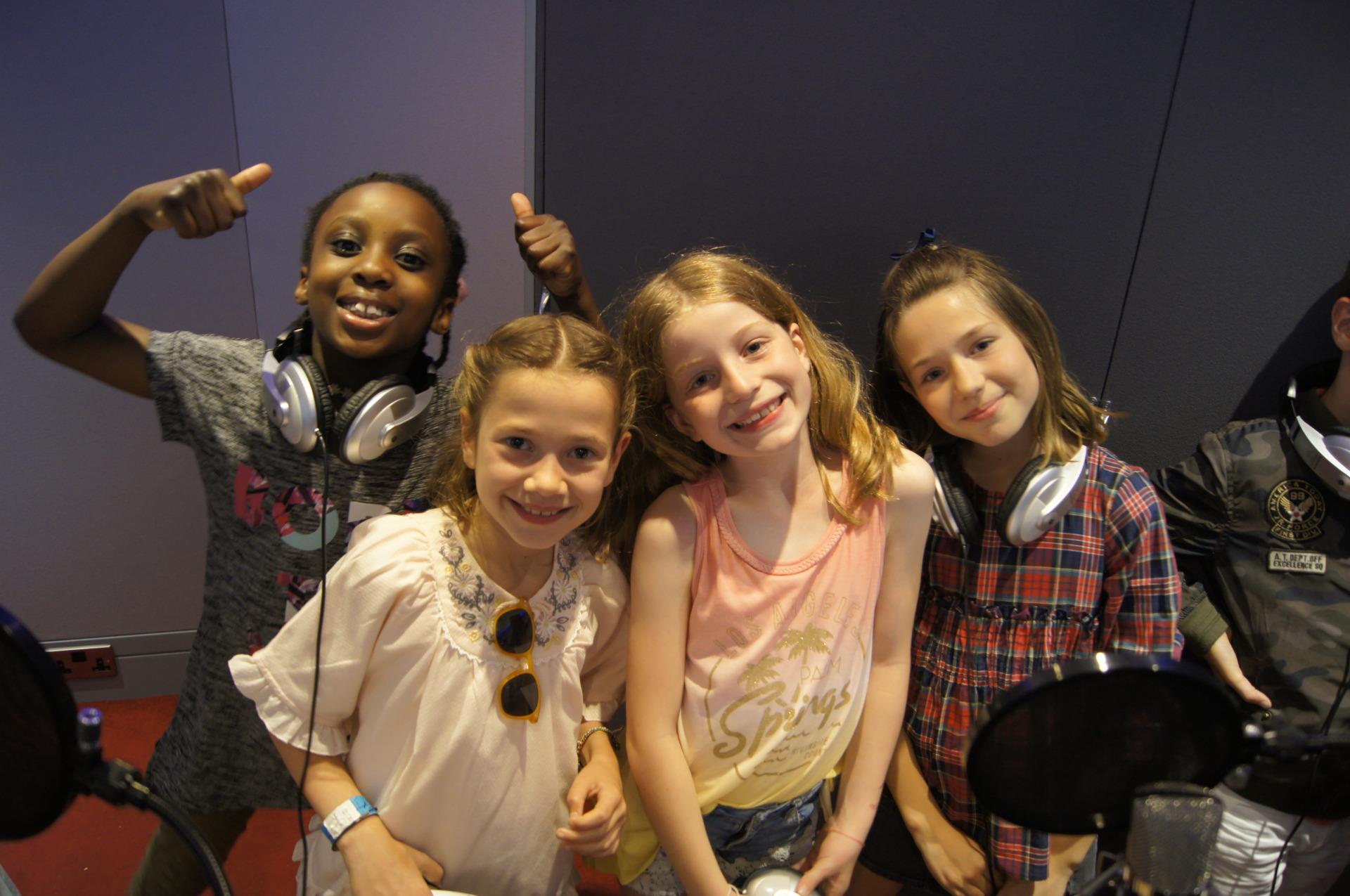 Girls singing party