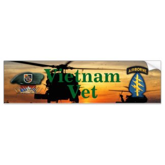 5th Special Forces,Green Berets, Vietnam War, Vets, Lang Vei, Bumper Stickers,