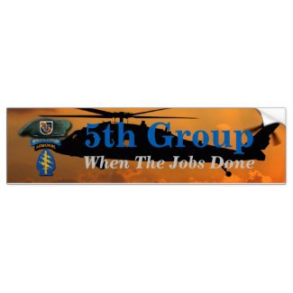 Army, 5th Group, 5th Special Forces, 5th SF, 5th SFG, Green Berets,  Bumper Sticker, LRRPS, LURPS, LURPS, Fort Campbell