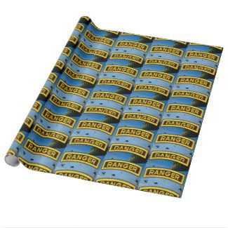 army rangers, airborne, fort benning, wrapping paper, gift wrap, military gifts,