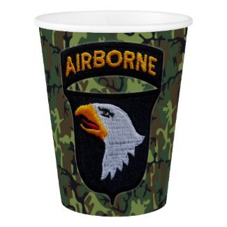 101st ABN, Screaming Eagles, Army, Veterans, Paper cups,