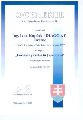 Ocenenie Ministerstva hospodárstva