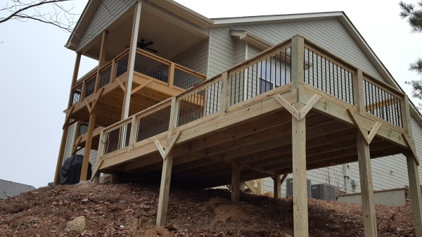 Custom Double Deck Patio