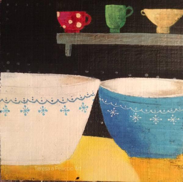 Snowflake Pyrex Bowls