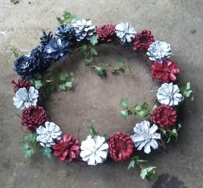 Unique Pine Cone Wreaths