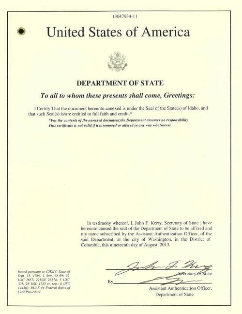 Authenticate diploma/degree for China :