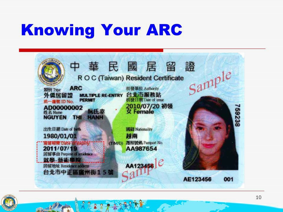 Taiwan Work Permit for ARC, What is an ARCP.?