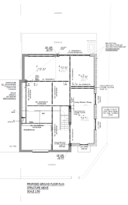 aleur associates southwark ground floor plan downstands beam