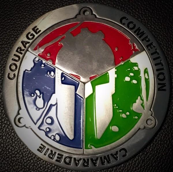 Spartan race trifecta medal
