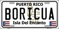 BORICUA PUERTO RICO METAL NOVELTY LICENSE PLATE LP-4341
