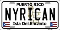 NYRICAN PUERTO RICO METAL NOVELTY LICENSE PLATE LP-4342
