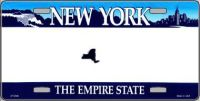 NEW YORK STATE NOVELTY STATE BACKGROUND BLANK METAL LICENSE PLATE LP-2246