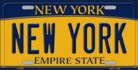 NEW YORK STATE BACKGROUND NOVELTY METAL LICENSE PLATE LP-3545