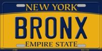 BRONX NEW YORK BACKGROUND  METAL NOVELTY LICENSE PLATE LP-8941