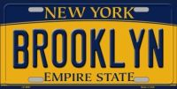 BROOKLYN NEW YORK BACKGROUND METAL NOVELTY LICENSE PLATE LP-8951